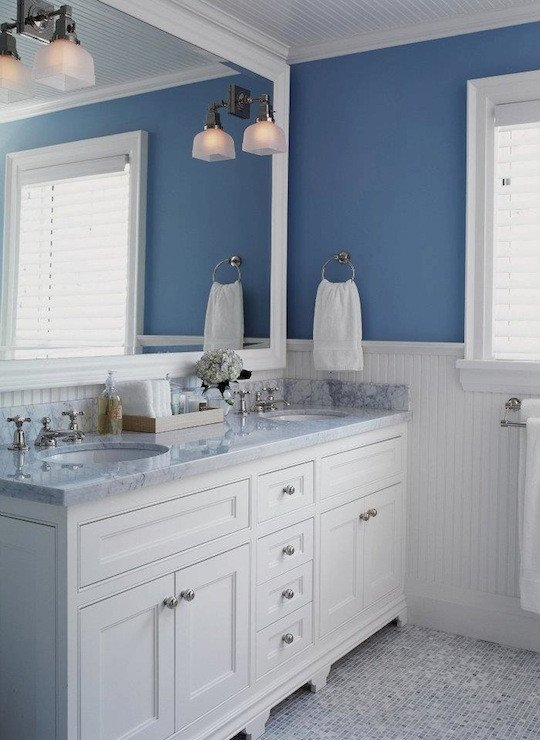 Blue and White Bathroom Decor Luxury White and Blue Bathroom Transitional Bathroom Jennifer Worts Design