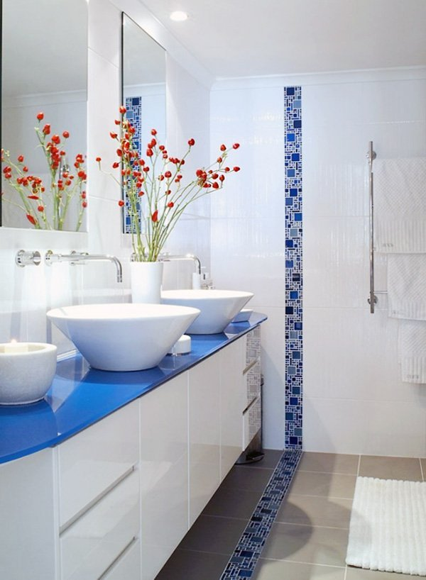 Blue and White Bathroom Decor Unique Decorating Bathroom with Blue and White