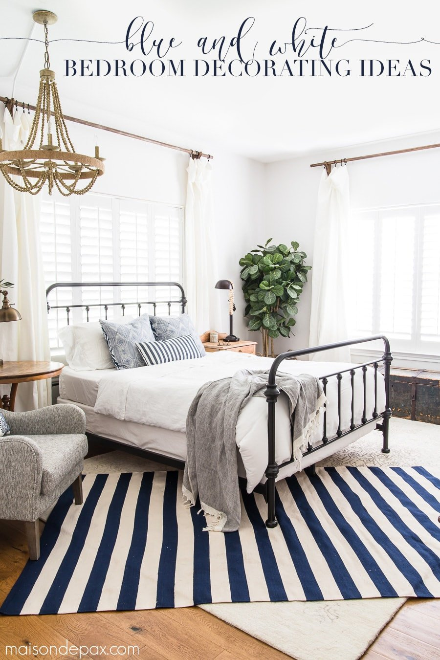 Blue and White Bedroom Decor Best Of Blue and White Bedroom Ideas for Summer Maison De Pax