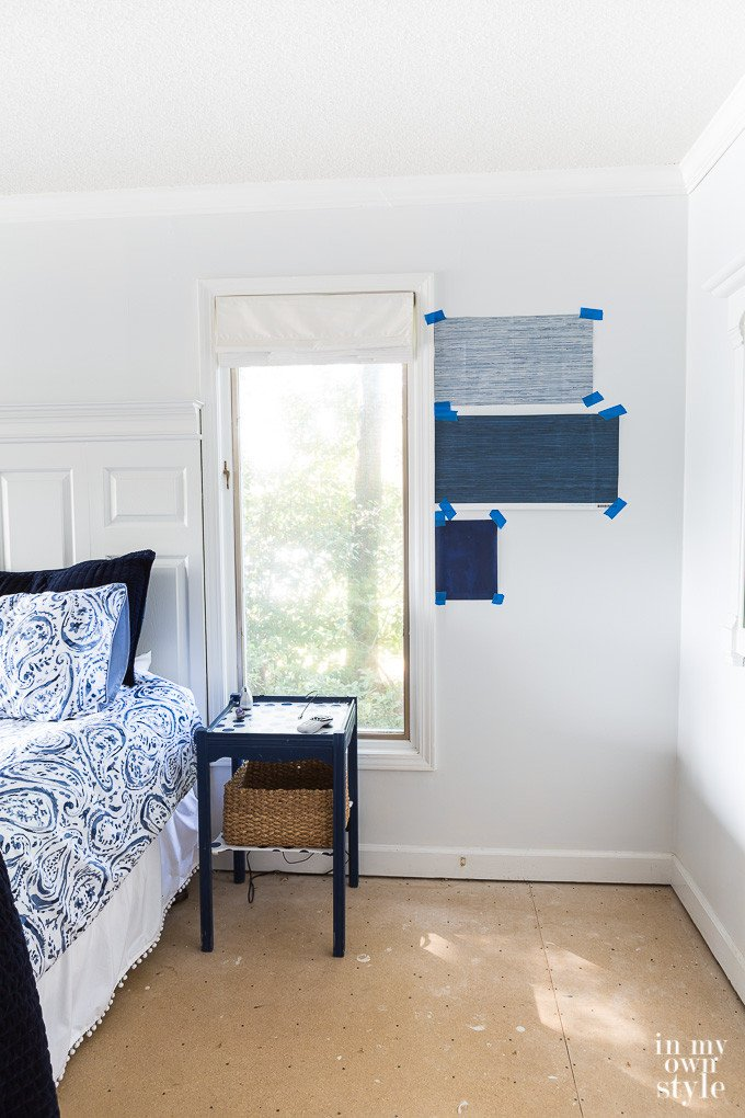 Decorating Plan for My Casual Blue & White Bedroom