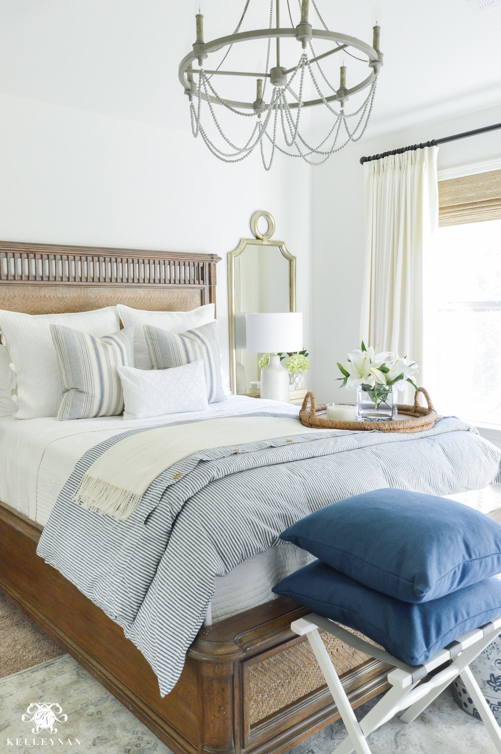 Blue and White Bedroom Decor Fresh E Room Challenge Classic Blue and White Guest Bedroom Reveal