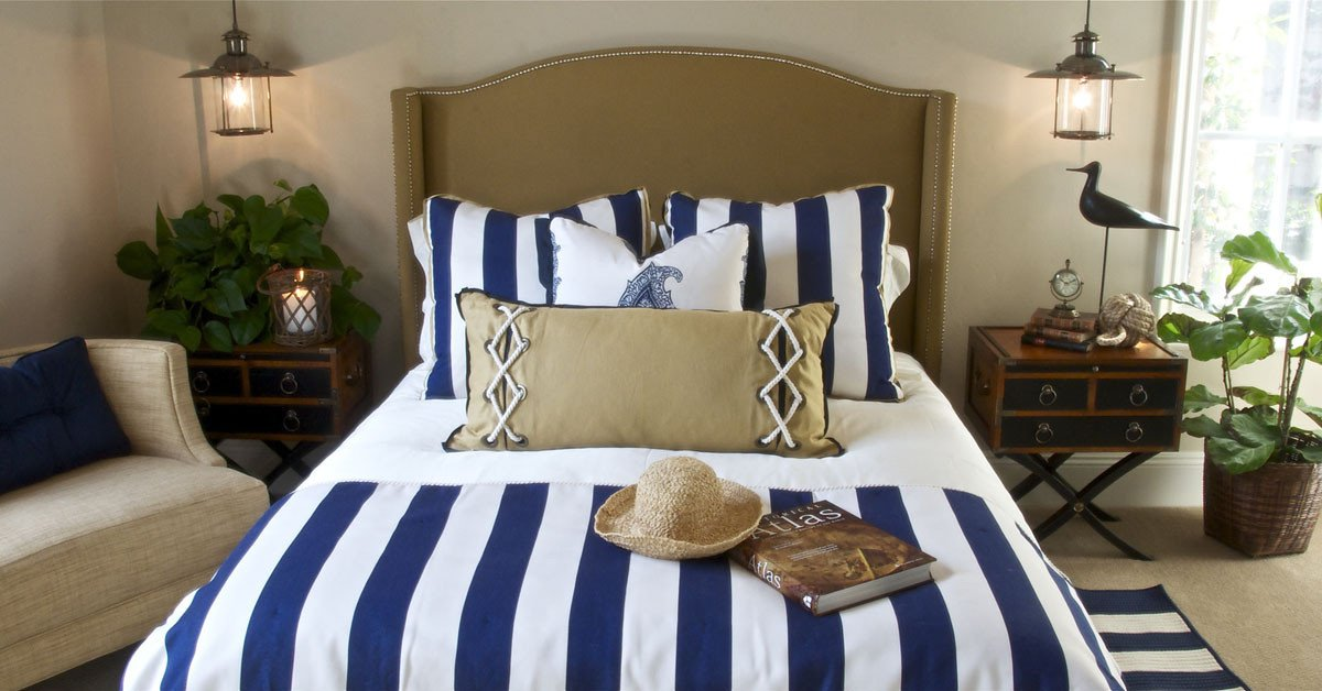 Blue and White Bedroom Decor Lovely Blue and White Costal Decor Idesignarch