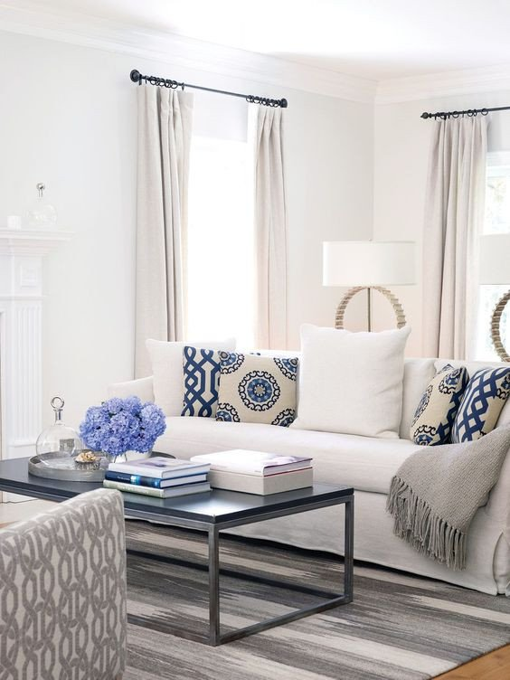 Blue and White Decor Ideas Awesome Bring the Shore Into Home with Beach Style Living Room