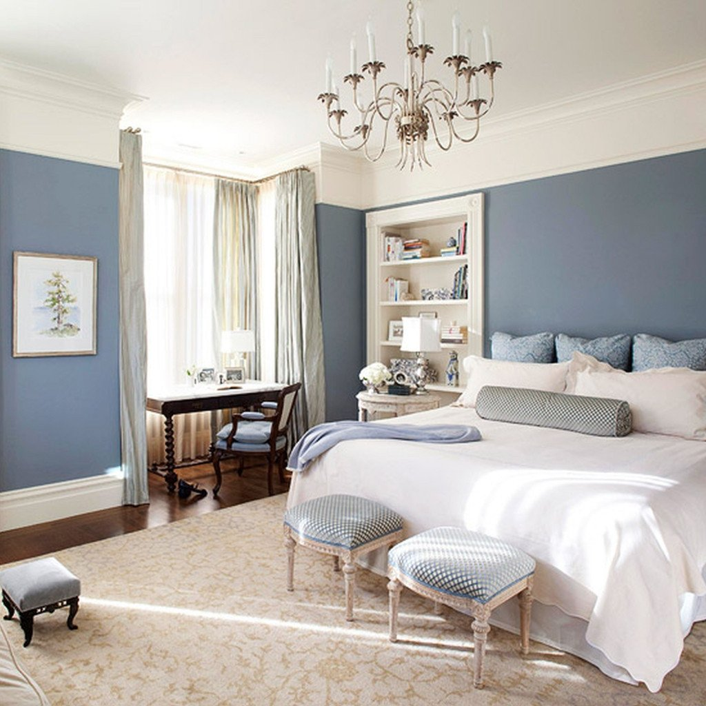 Blue and White Decor Ideas Fresh How to Apply the Best Bedroom Wall Colors to Bring Happy atmosphere Midcityeast