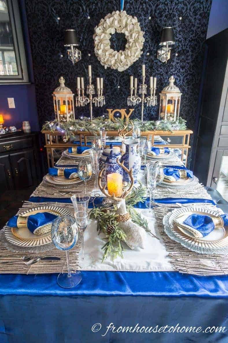 Blue and White Decor Ideas Lovely Beautiful Blue and White Christmas Home Decorating Ideas Plus 18 Other Bloggers Christmas Home