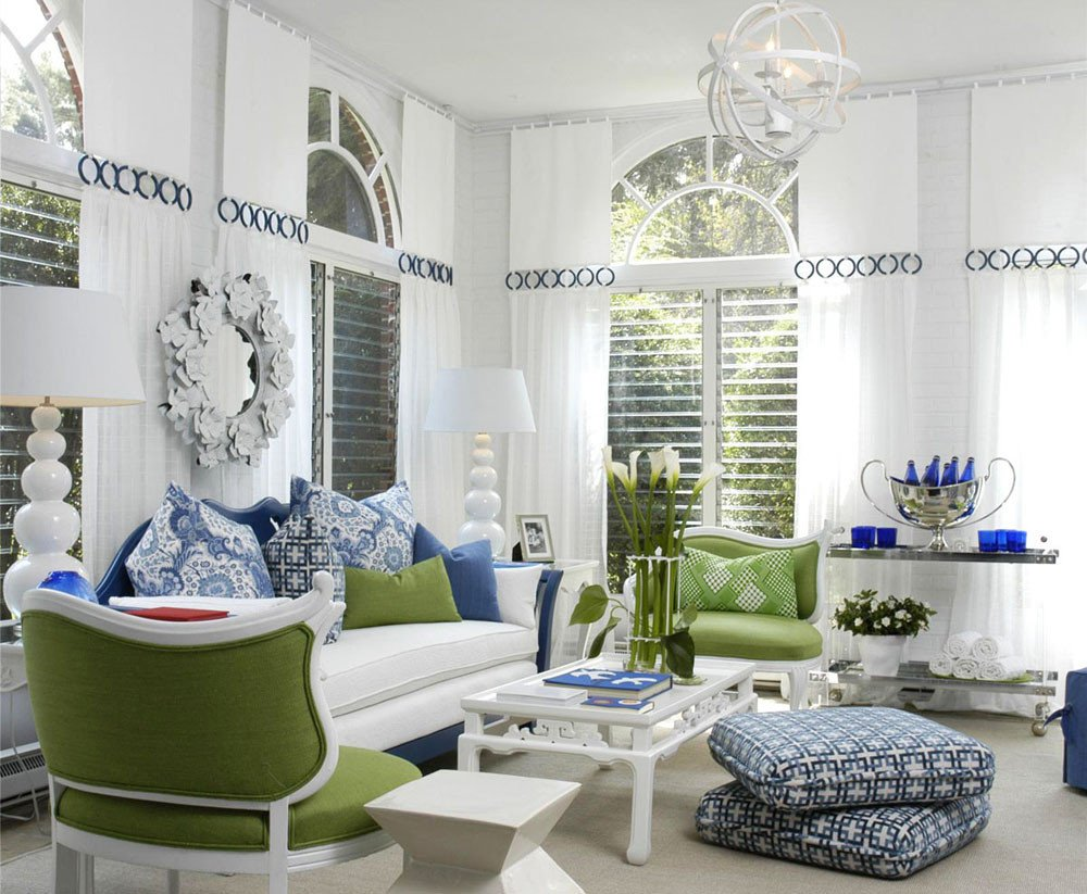 Blue and White Decor Ideas New Jazz Up Your Living Room with Colourful Pillows Idesignarch