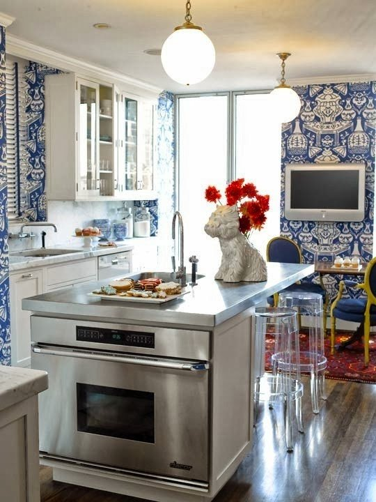 Blue and White Kitchen Decor Awesome Blue and White Kitchen Designing Tips