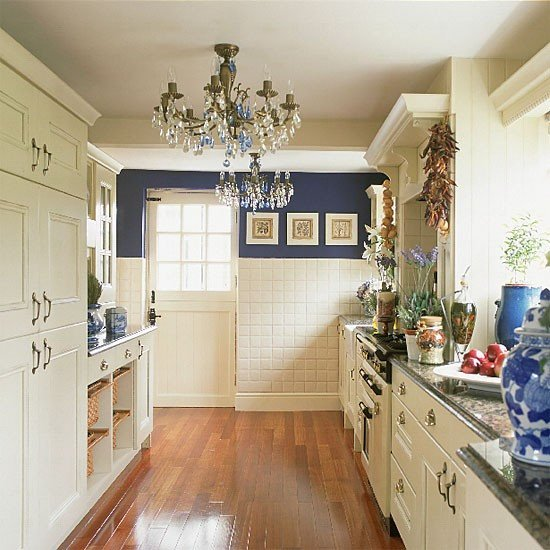 Blue and White Kitchen Decor Unique Eye for Design Create A Lovely Galley Kitchen