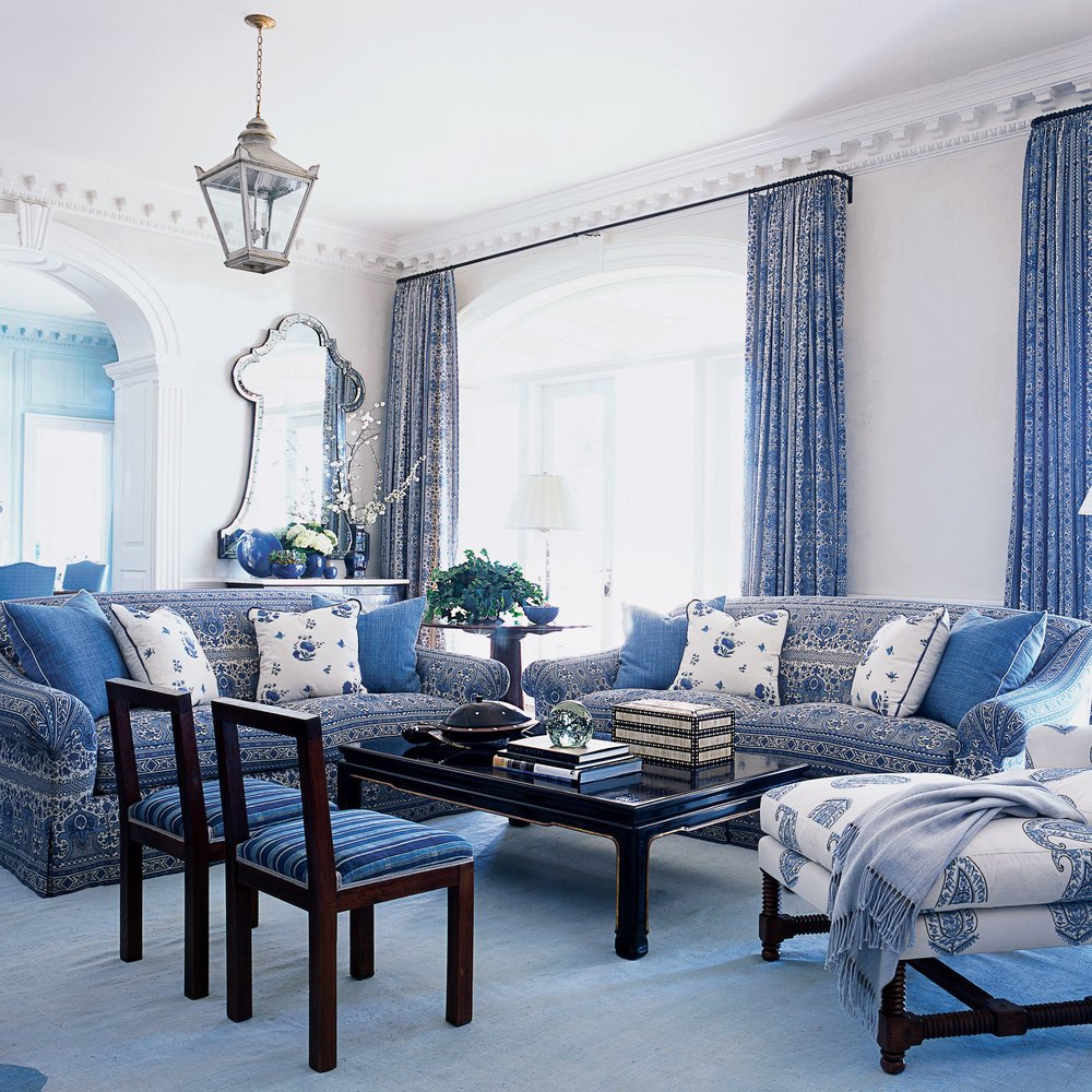 Blue and White Room Decor Best Of Blue and White Living Room Blue and White Beach House Decorating Coastal Living