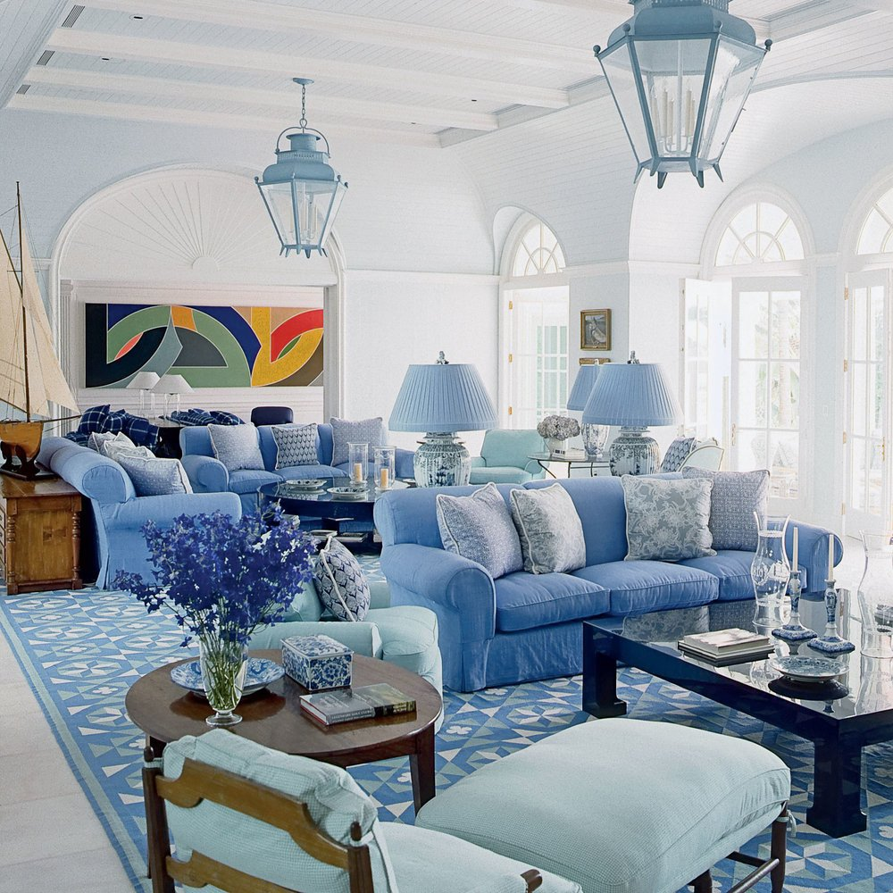 Blue and White Room Decor Fresh Geometric Home Accents Blue and White Beach House Decorating Coastal Living