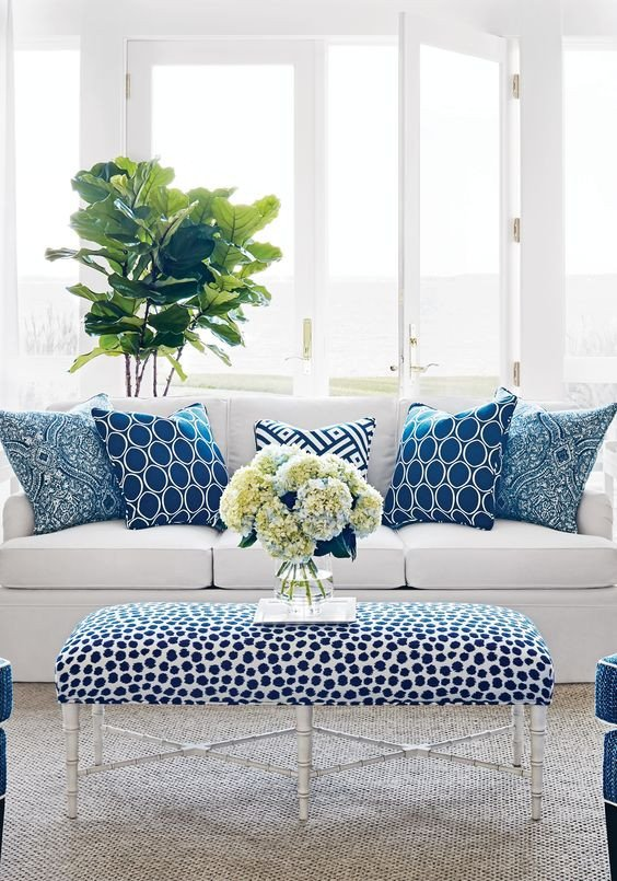 Blue and White Room Decor New Blue & White Rooms and Very Affordable Blue & White Furniture Accessories – south Shore