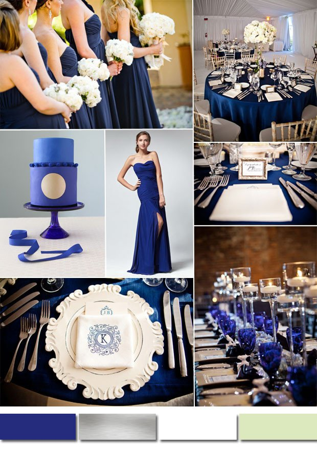 Blue and White Wedding Decor Beautiful Classic Royal Blue Wedding Color Ideas and Bridesmaid Dresses