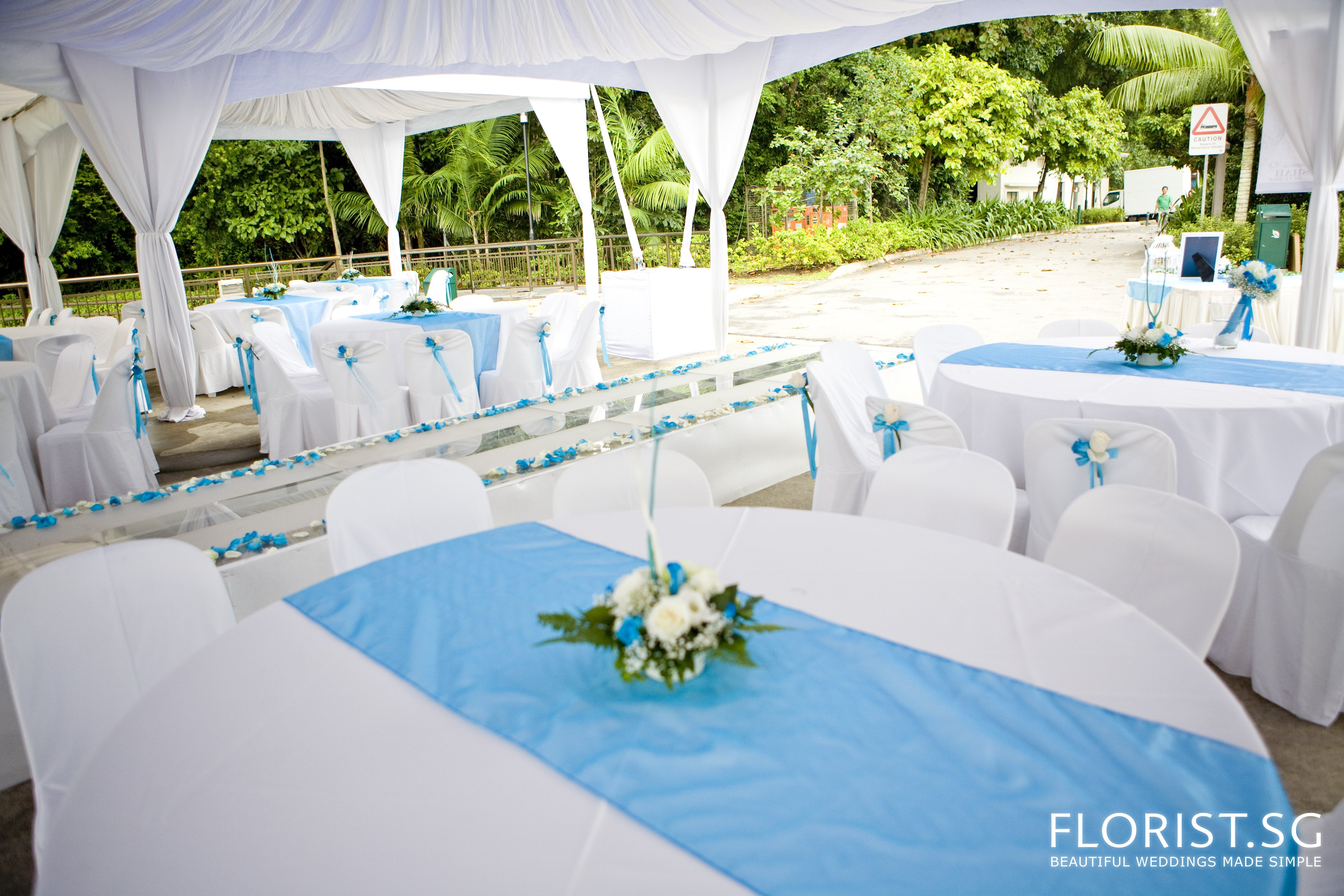 Blue and White Wedding Decor Best Of Blue Wedding theme Labrador Park Of National Park Board