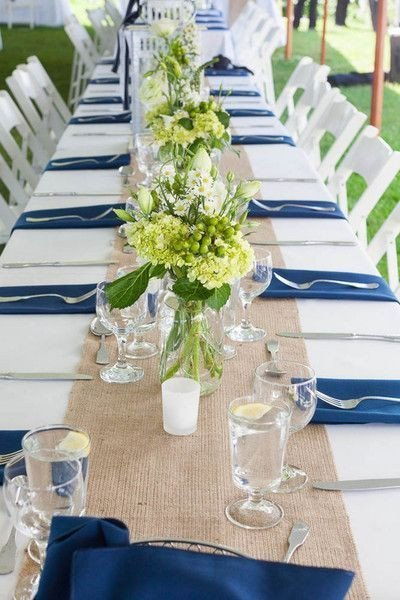 Blue and White Wedding Decor Lovely Crisp White Blue Wedding Color Palette Burlap Decor