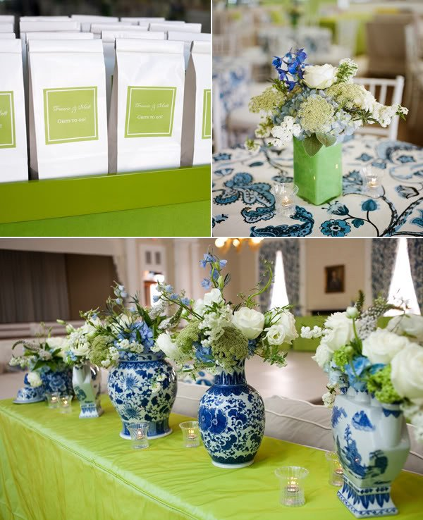 Blue and White Wedding Decor Lovely Elizabeth T Wedding Inspiration