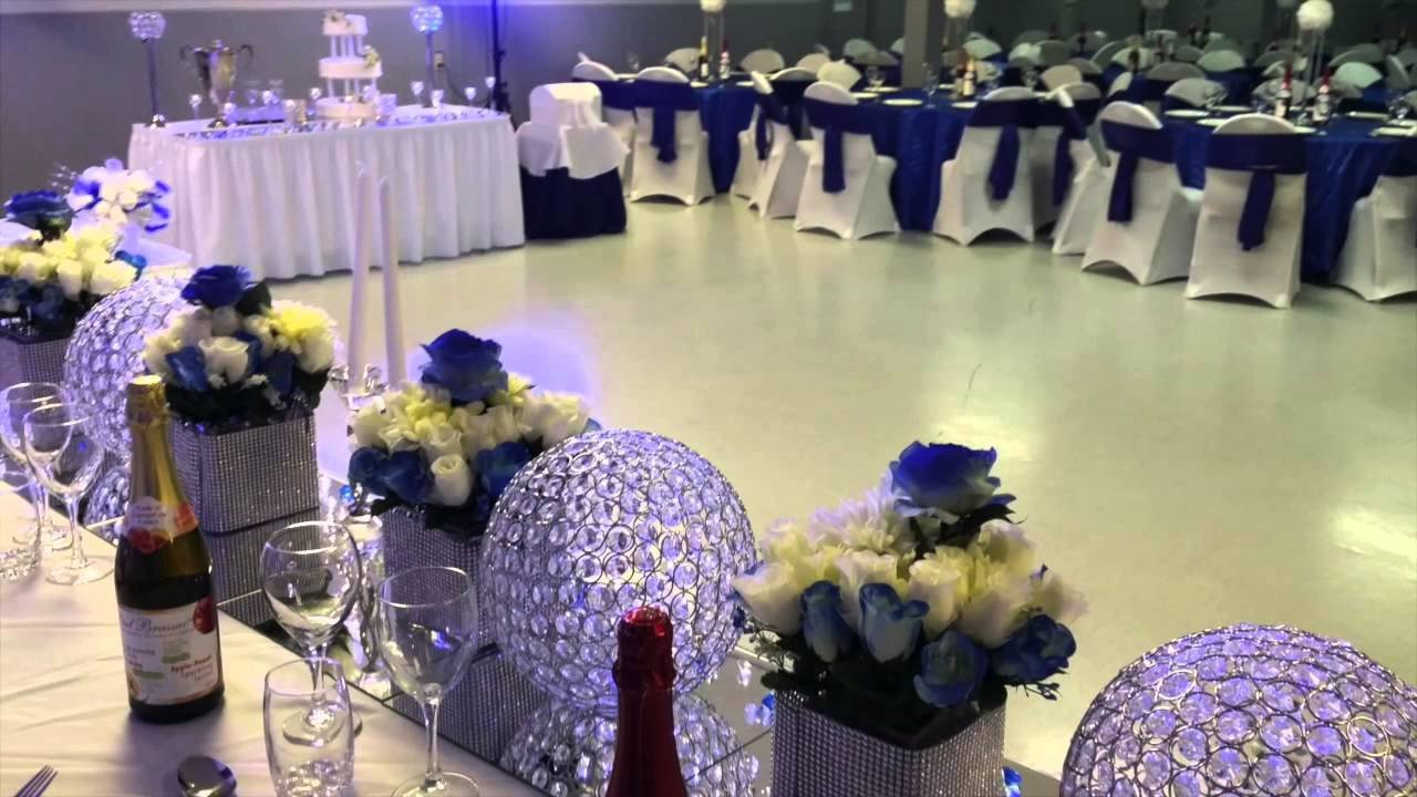 Blue and White Wedding Decor Luxury E Halisi Decor Royal Blue Wedding Decoration