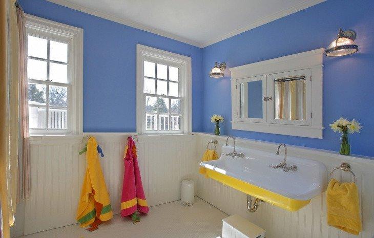 Blue and Yellow Bathroom Decor Elegant 20 Bathroom Paint Designs Decorating Ideas