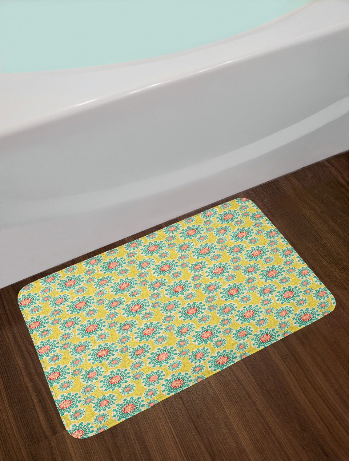 "Blue and Yellow Bathroom Decor Fresh Blue and Yellow Bath Mat Bathroom Decor Plush Non Slip Mat 29 5"" X 17 5"""
