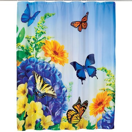 Blue and Yellow Bathroom Decor Fresh Blue and Yellow butterfly Gardens Shower Curtain Spring Decor for Bathroom Walmart