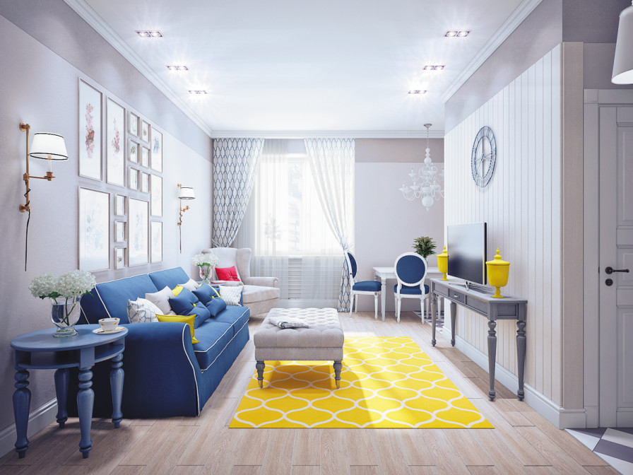 Blue and Yellow Home Decor Beautiful Blue and Yellow Home Decor