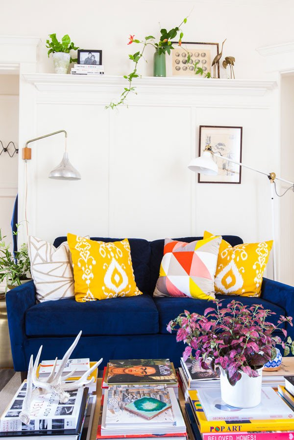 Blue and Yellow Home Decor Beautiful Navy Blue and Mustard Yellow Home Decor