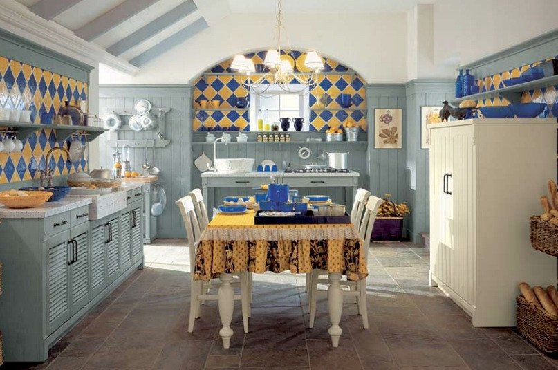 Blue and Yellow Kitchen Decor Awesome Minacciolo Country Kitchens with Italian Style