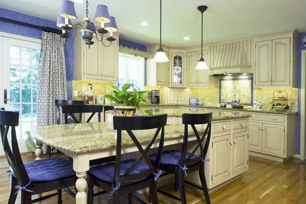 Blue and Yellow Kitchen Decor Elegant Blue and Yellow Kitchens White Brown Oak Country Home Round Kitchens