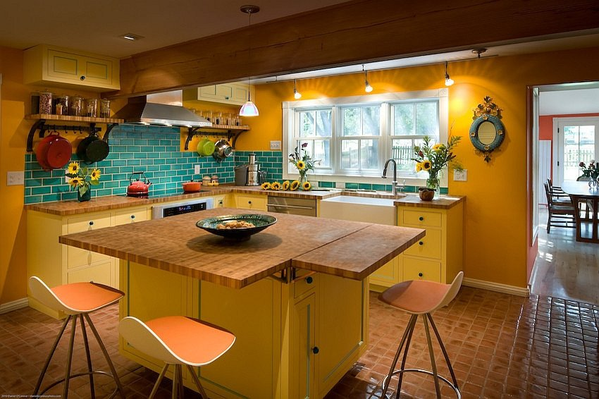 Blue and Yellow Kitchen Decor Elegant Yellow and Blue Interiors Living Rooms Bedrooms Kitchens
