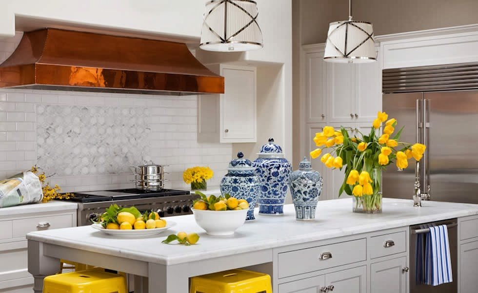 Blue and Yellow Kitchen Decor Fresh 25 Classic White Kitchens with Blue & White Accessories the Glam Pad