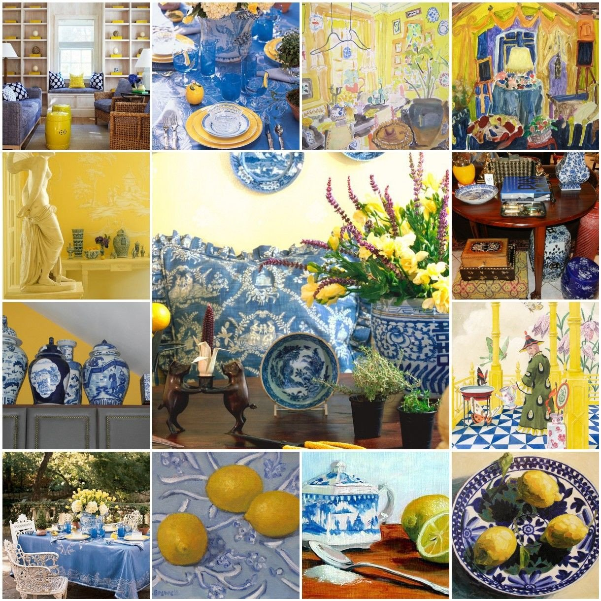 Blue and Yellow Kitchen Decor Inspirational the French Tangerine Blue and Yellow Color Ii In 2019