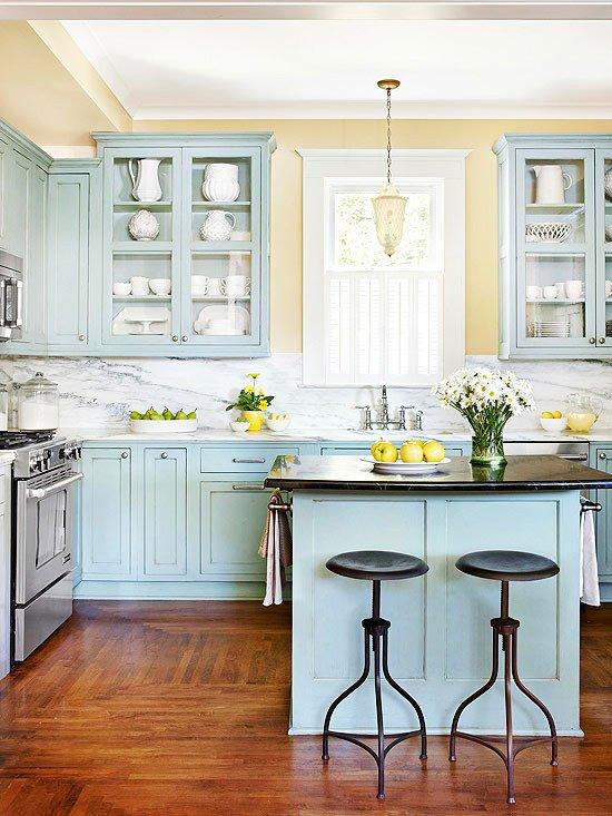 Blue and Yellow Kitchen Decor New 23 Gorgeous Blue Kitchen Cabinet Ideas