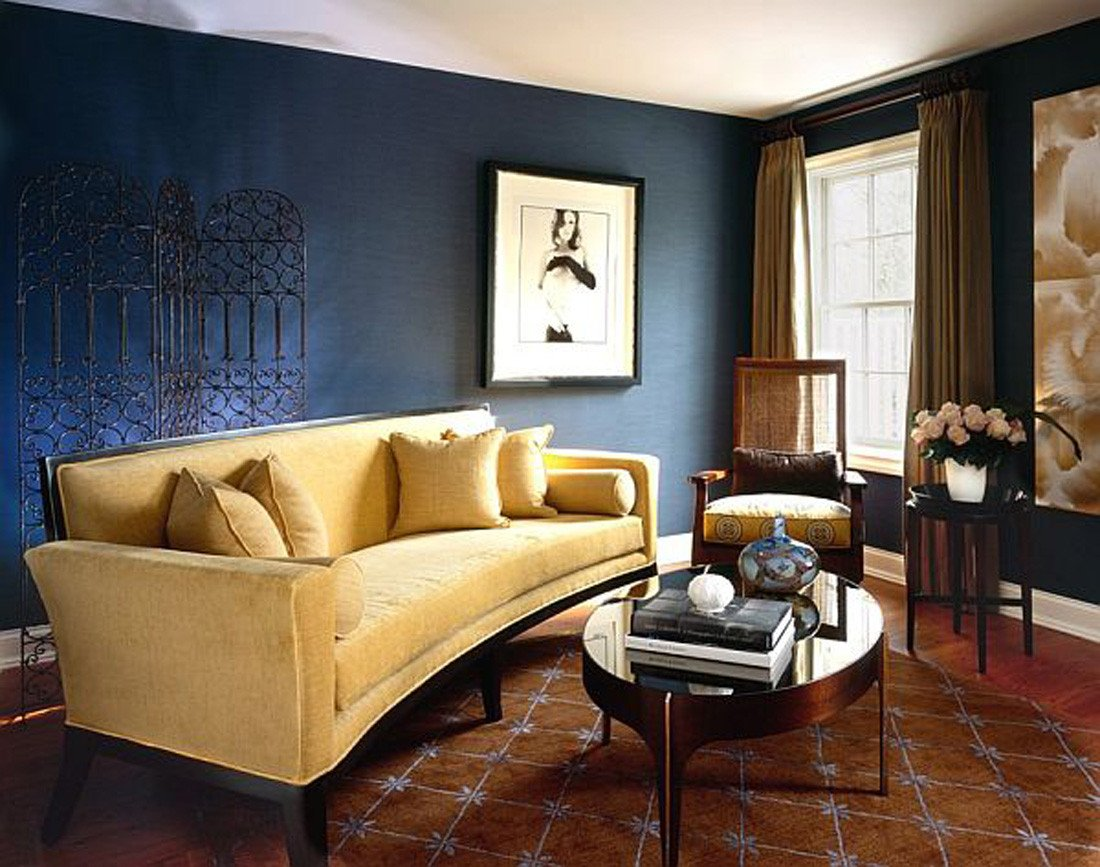 Blue and Yellow Wall Decor Awesome Brown and Blue Interior Color Schemes for An Earthy and Elegant Room