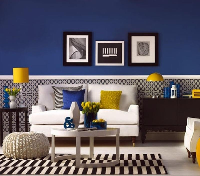 Blue and Yellow Wall Decor Fresh 20 Charming Blue and Yellow Living Room Design Ideas Rilane