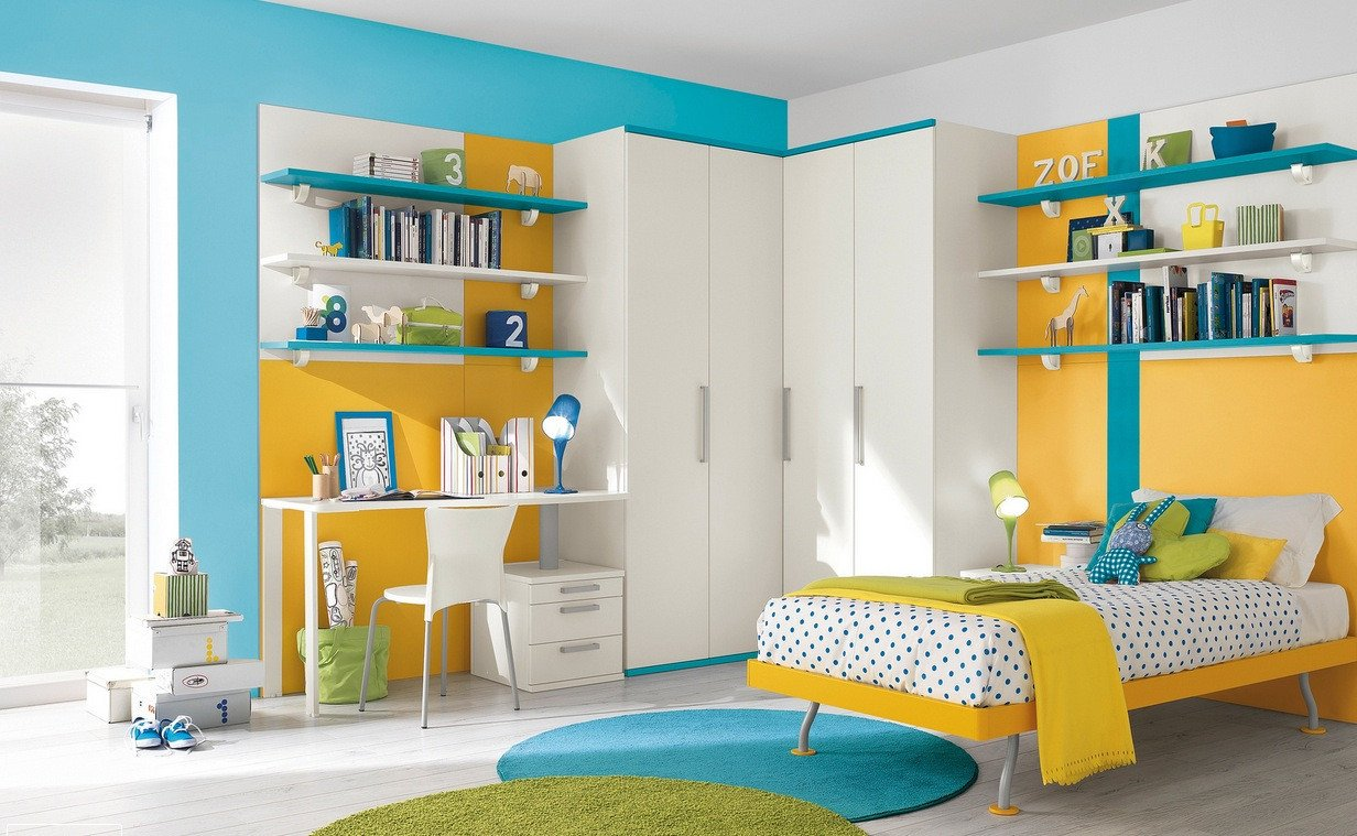 Blue and Yellow Wall Decor Inspirational Modern Kid S Bedroom Design Ideas