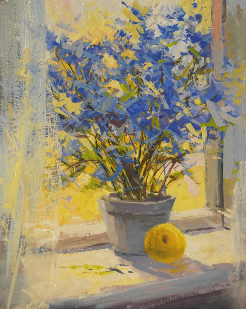 Blue and Yellow Wall Decor Lovely Yellow Blue Flowers Painting Print Floral Canvas Art Yellow