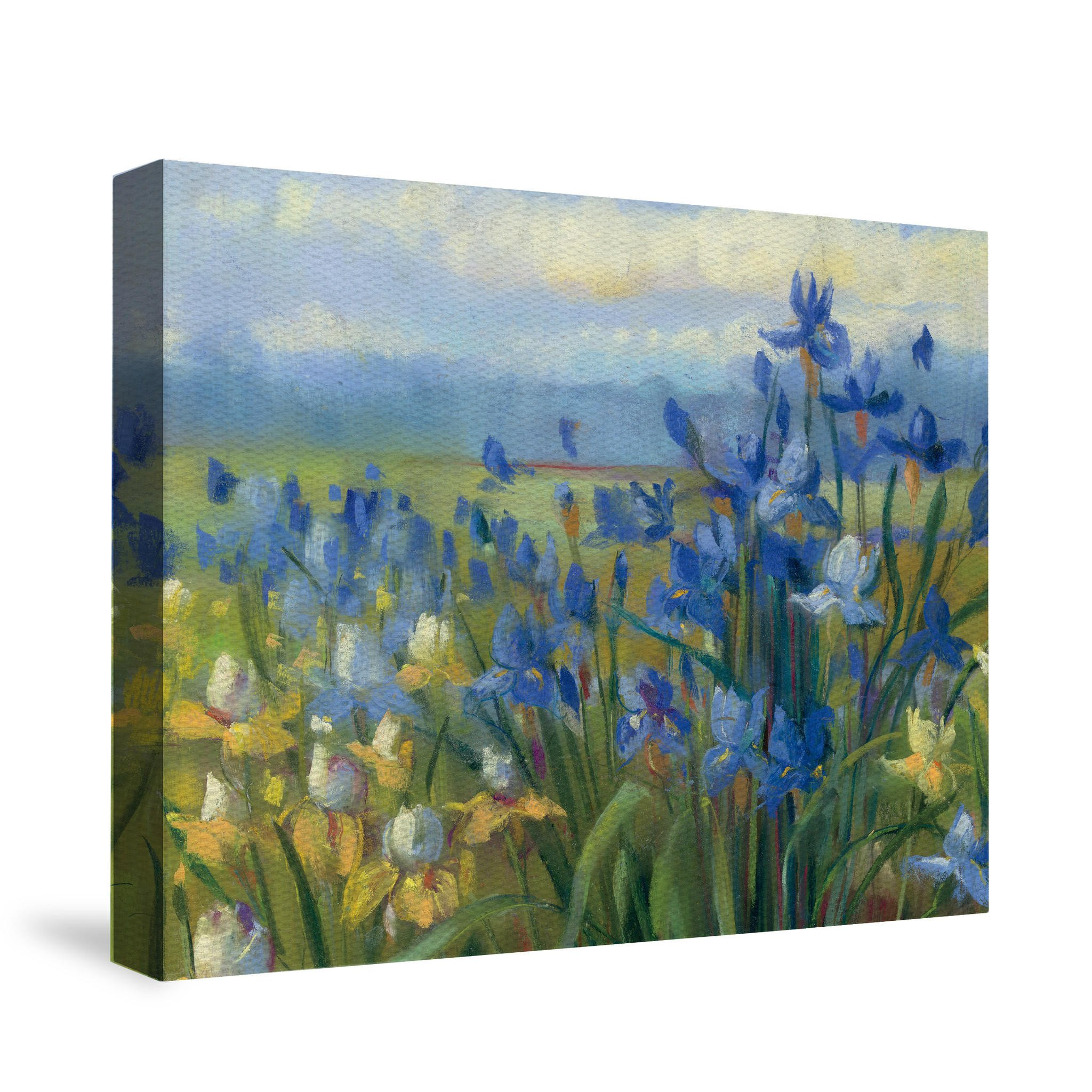 Blue and Yellow Wall Decor Luxury Blue and Yellow Flower Field Canvas Wall From Laural Home