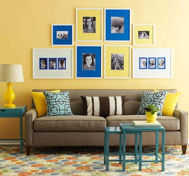 Blue and Yellow Wall Decor Unique 20 Charming Blue and Yellow Living Room Design Ideas Rilane