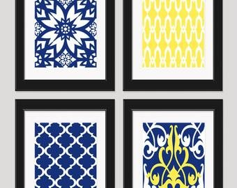 Blue and Yellow Wall Decor Unique Popular Items for Yellow Blue Wall Art On Etsy