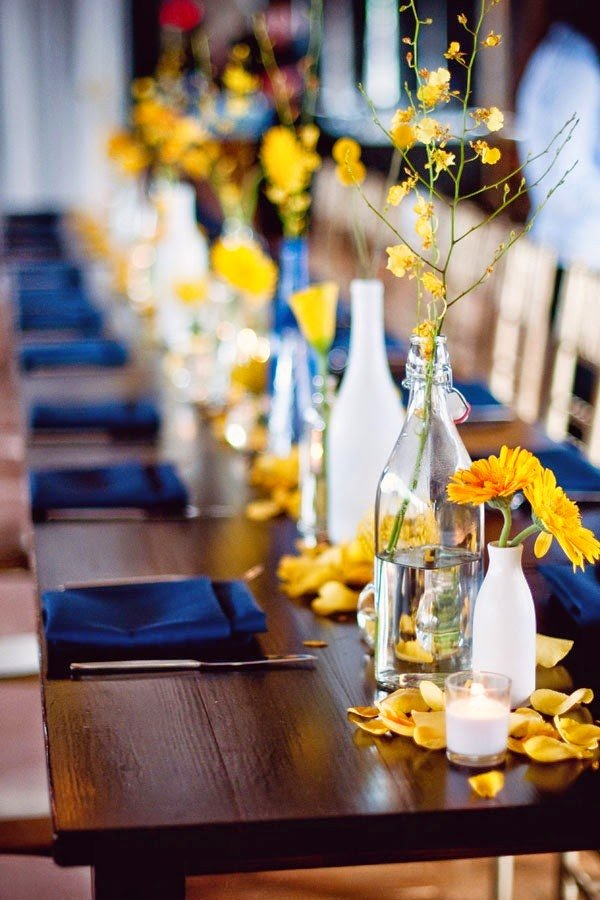Blue and Yellow Wedding Decor Beautiful the Confetti Blog Yellow and Blue Wedding Ideas From the Real Flower Petal Confetti Pany