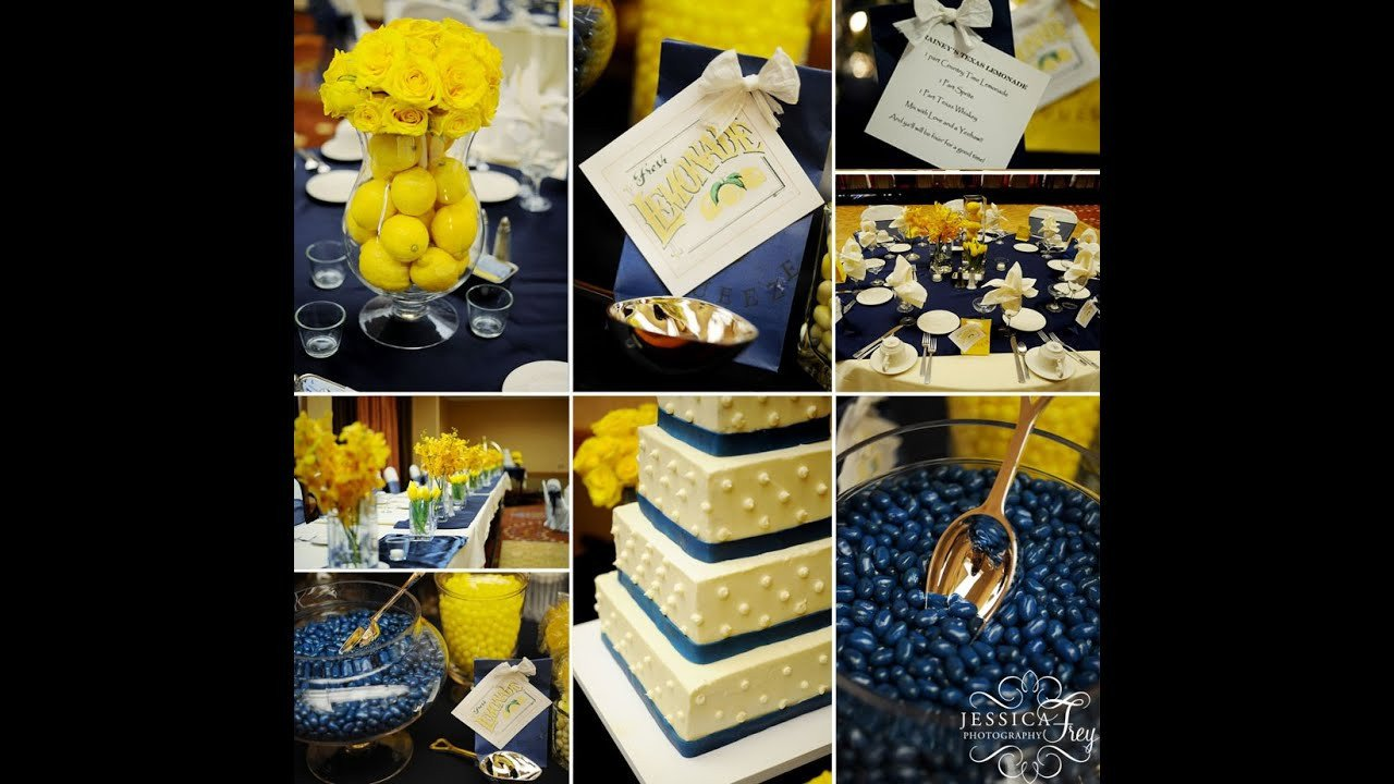 Blue and Yellow Wedding Decor Best Of Navy and Yellow Wedding Ideas