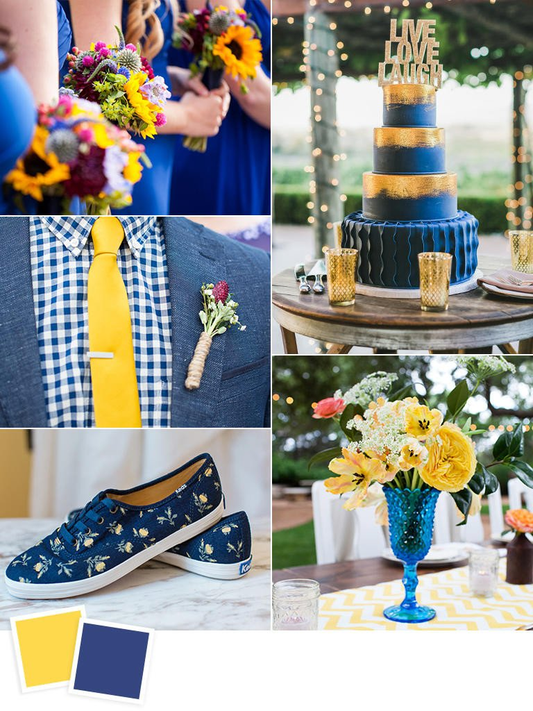 Blue and Yellow Wedding Decor Elegant 12 Fall Wedding Color Bos to Steal Crazyforus