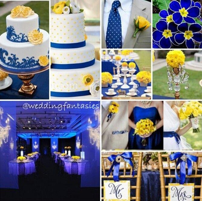 Blue and Yellow Wedding Decor Fresh Blue and Yellow Wedding theme Wedding