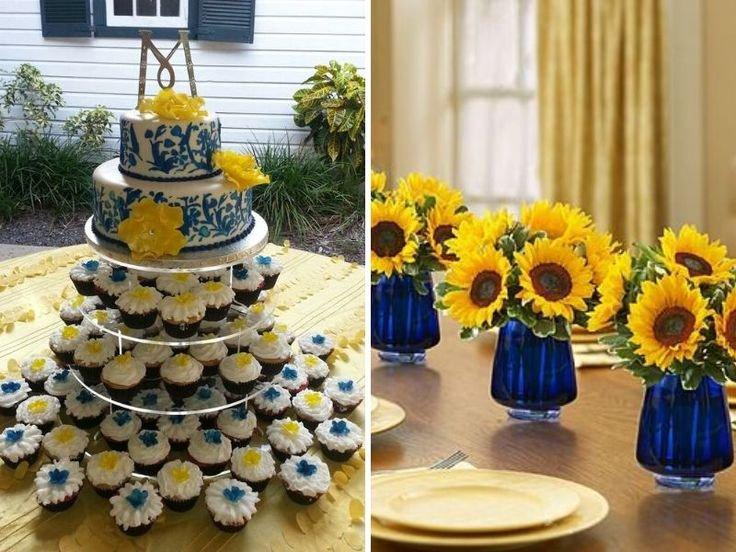 Blue and Yellow Wedding Decor Fresh Inspirations for Blue and Yellow Wedding Colors Wedding Colors