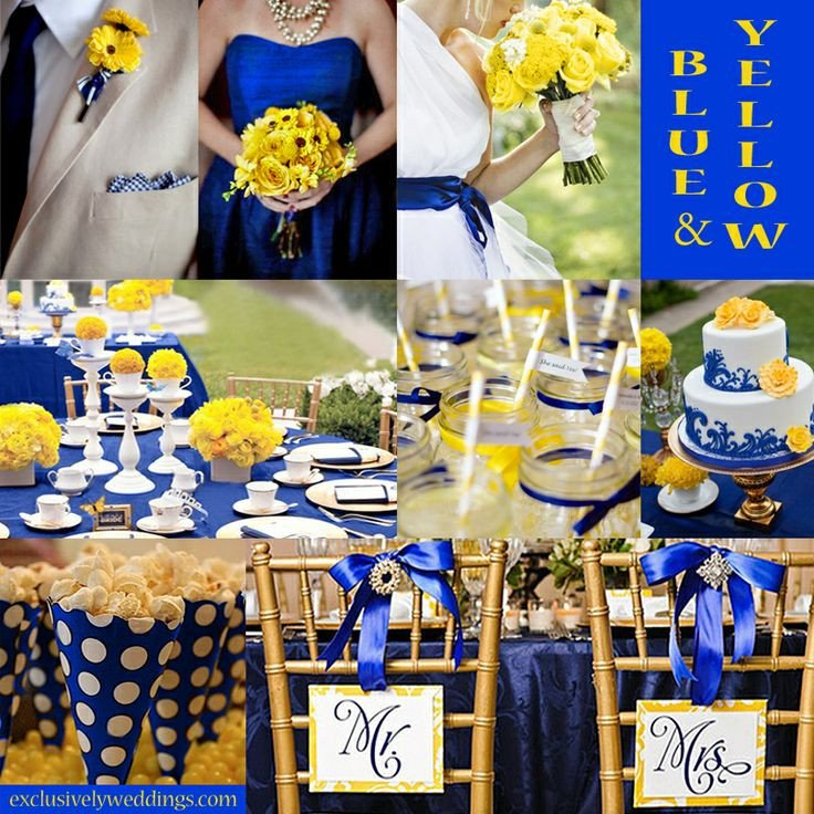 Blue and Yellow Wedding Decor Inspirational 130 Best Blue and Yellow Wedding Ideas Images On Pinterest
