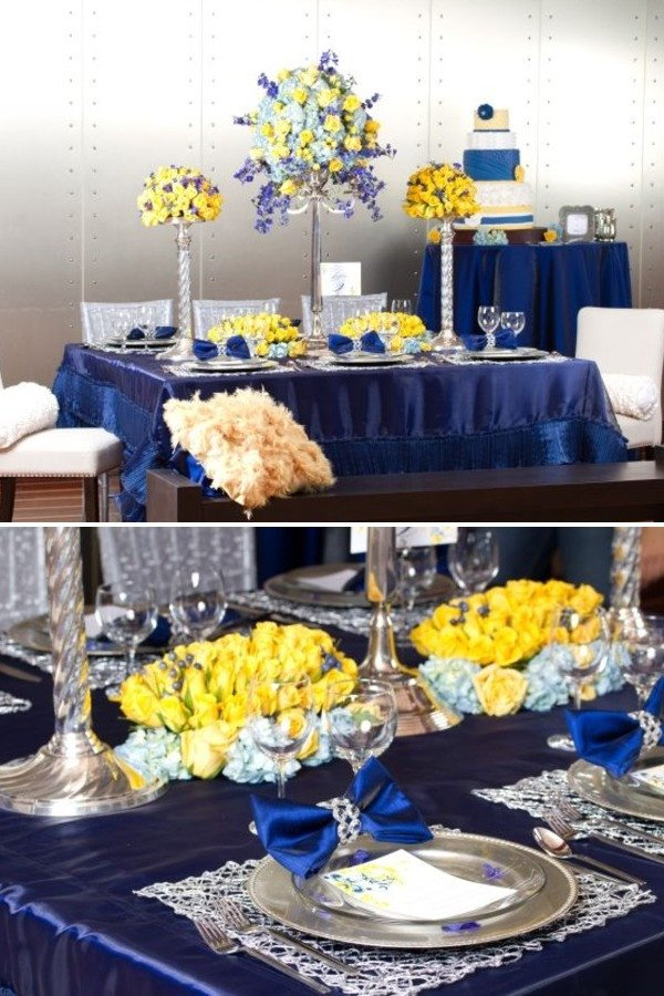 Blue and Yellow Wedding Decor Luxury ask Cynthia Wedding Inspirations