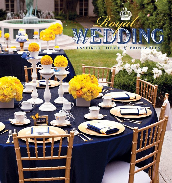 Blue and Yellow Wedding Decor New Wedding by Designs Royal Blue Centerpieces My Dreaming