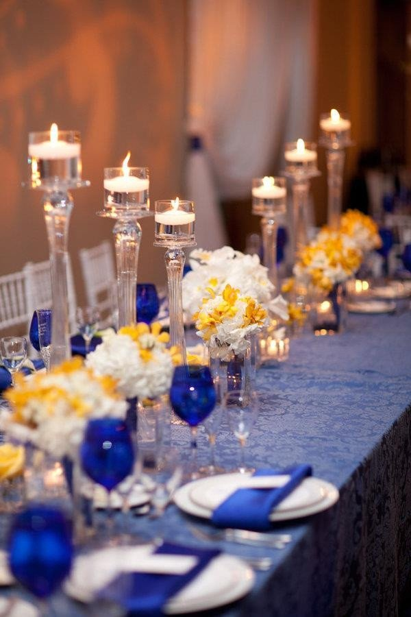 Blue and Yellow Wedding Decor Unique 130 Best Images About Blue and Yellow Wedding Ideas On Pinterest