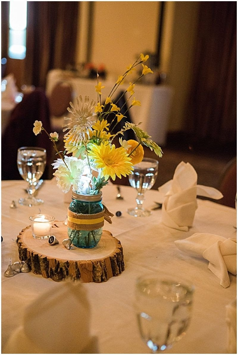 Blue and Yellow Wedding Decor Unique Blue and Yellow Lodge Wedding Creative Wedding Details