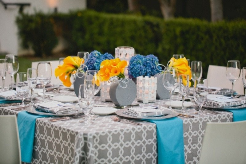 Blue and Yellow Wedding Decor Unique Picture Grey and Blue with Pops Yellow Wedding Decor Inspiration