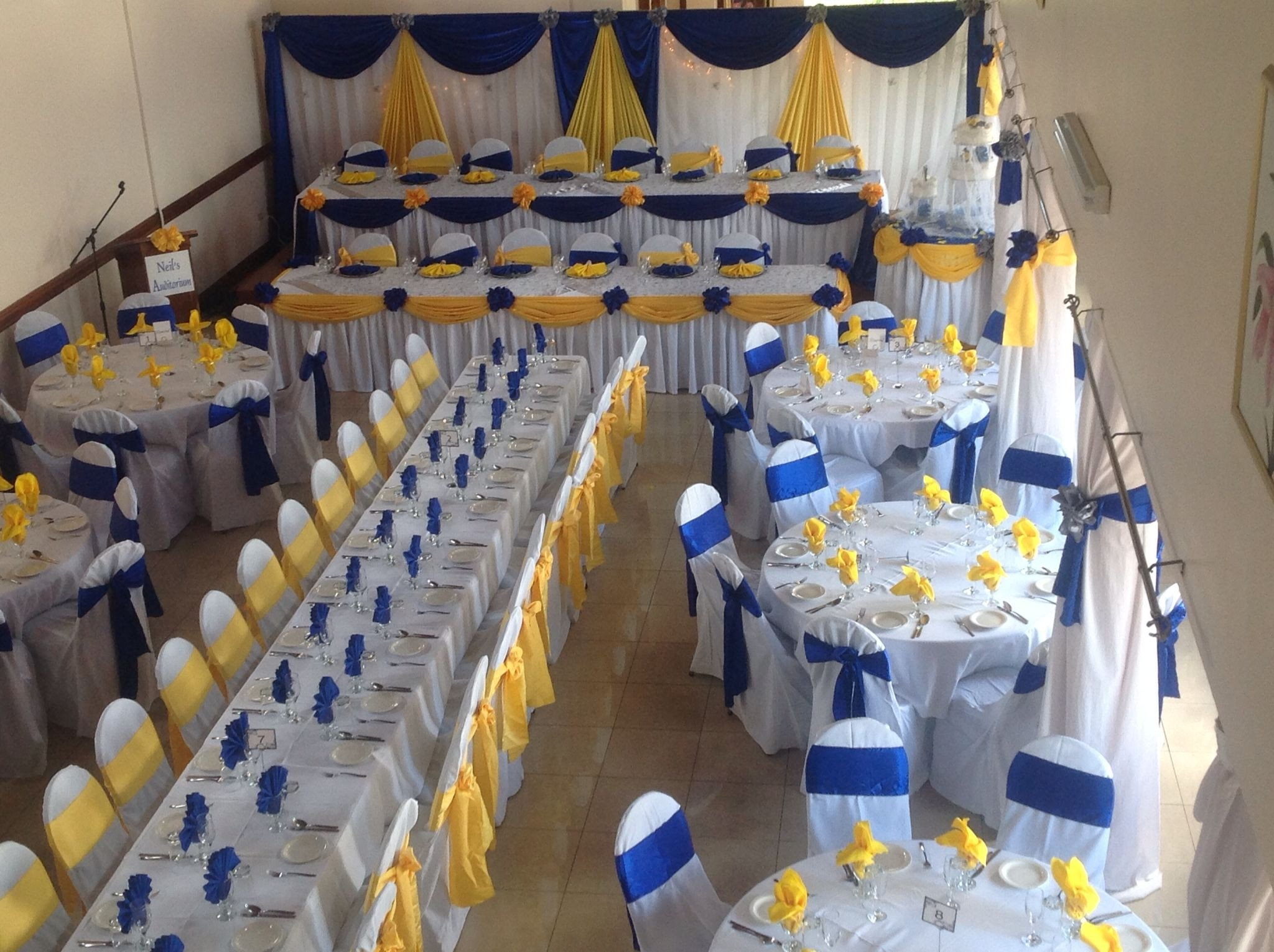 Blue and Yellow Wedding Decor Unique Royal Blue and Yellow Wedding Decor Wedding Decor Pinterest